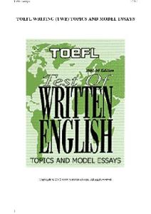 دانلود رایگان کتاب TOEFL Test of Writing English. Topics and Model Essays